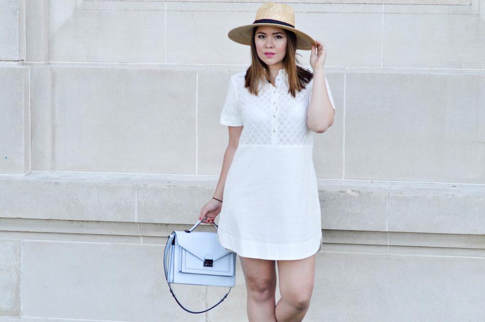 Garden Party, little white dress via. www.birdieshoots.com