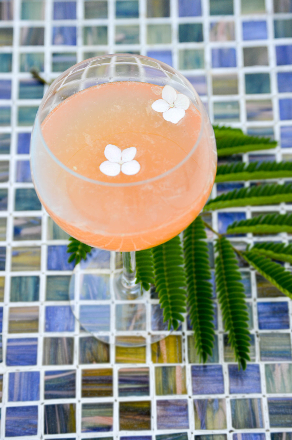 Peach Grapefruit fizz cocktail via. www.birdieshoots.com