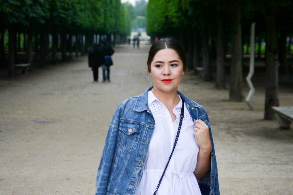jardin du louvre, Paris blogger attire via. www.birdieshoots.com