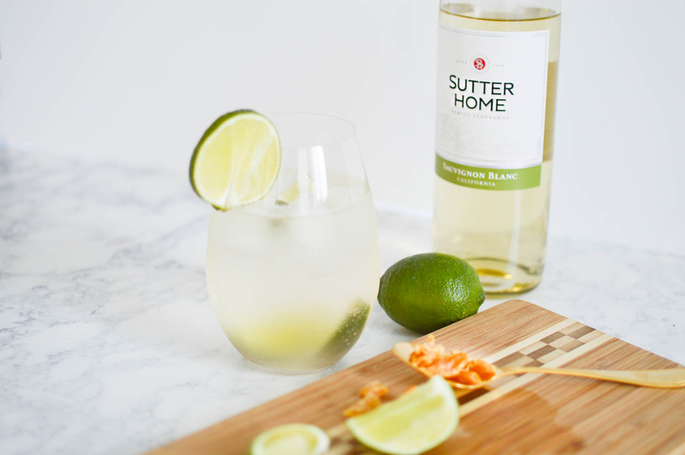 Summer Ginger Spritz with Sutter Home via. www.birdieshoots.com