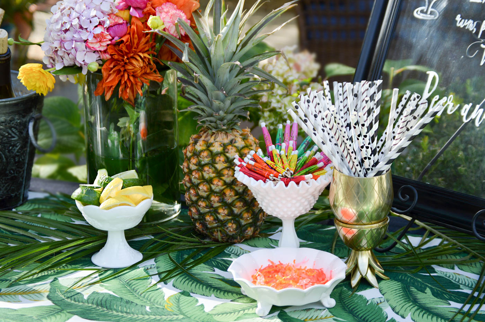 Coco Cabana Tropical Engagement Party via. www.birdieshoots.com