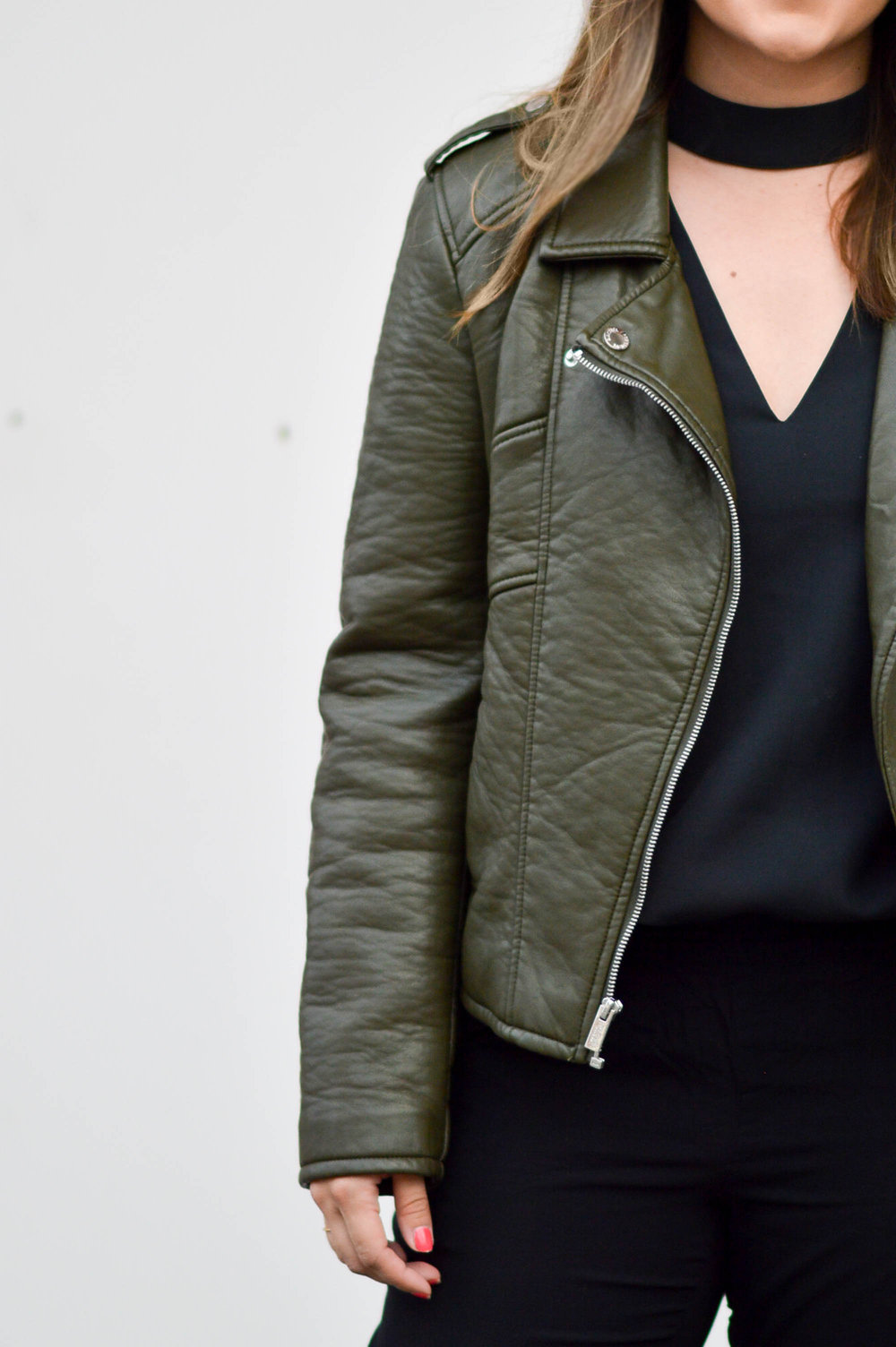 Green with envy leather jacket
