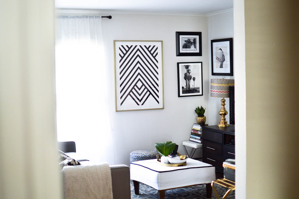 Rental Life, Decorating with Minted Wall Art via. www.birdieshoots.com