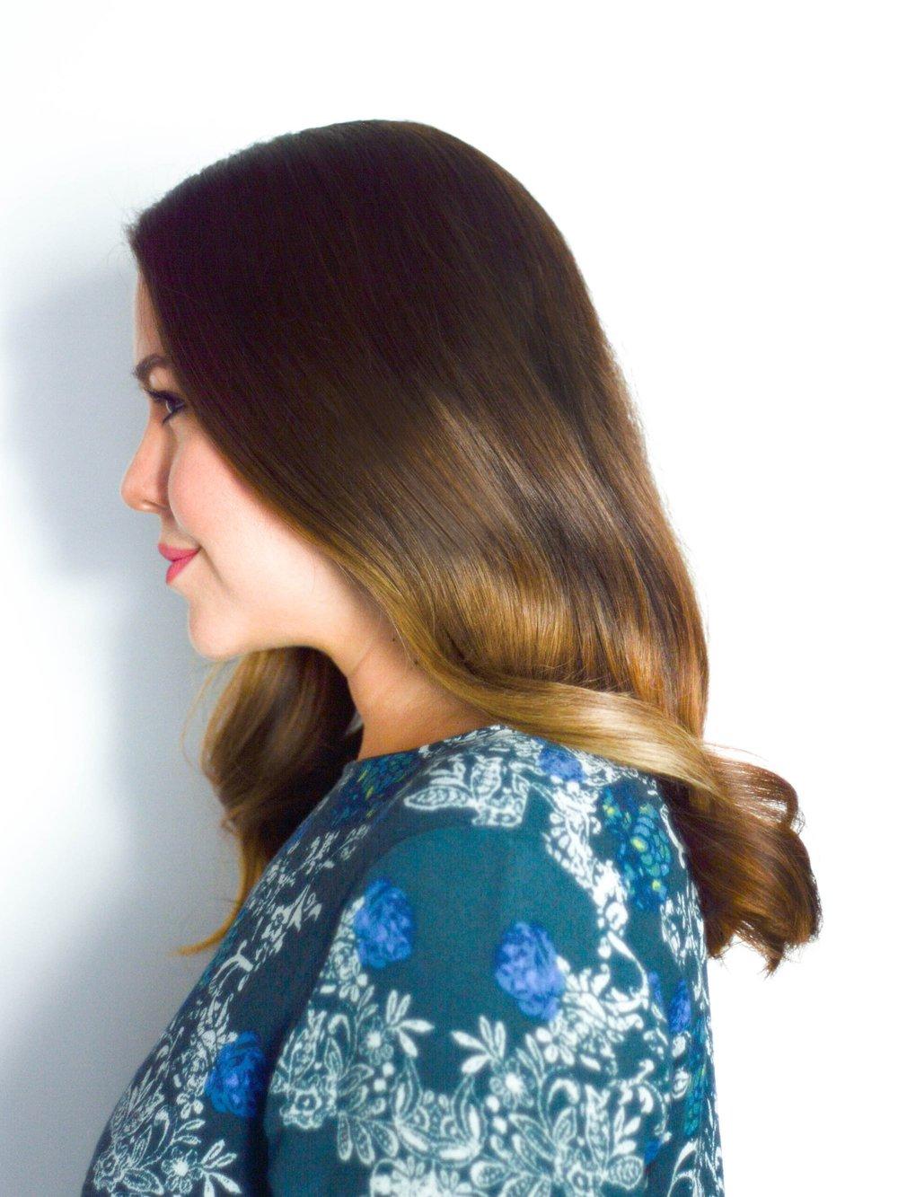 Sleek and Soft Waves Hair Tutorial Via. www.birdieshoots.com
