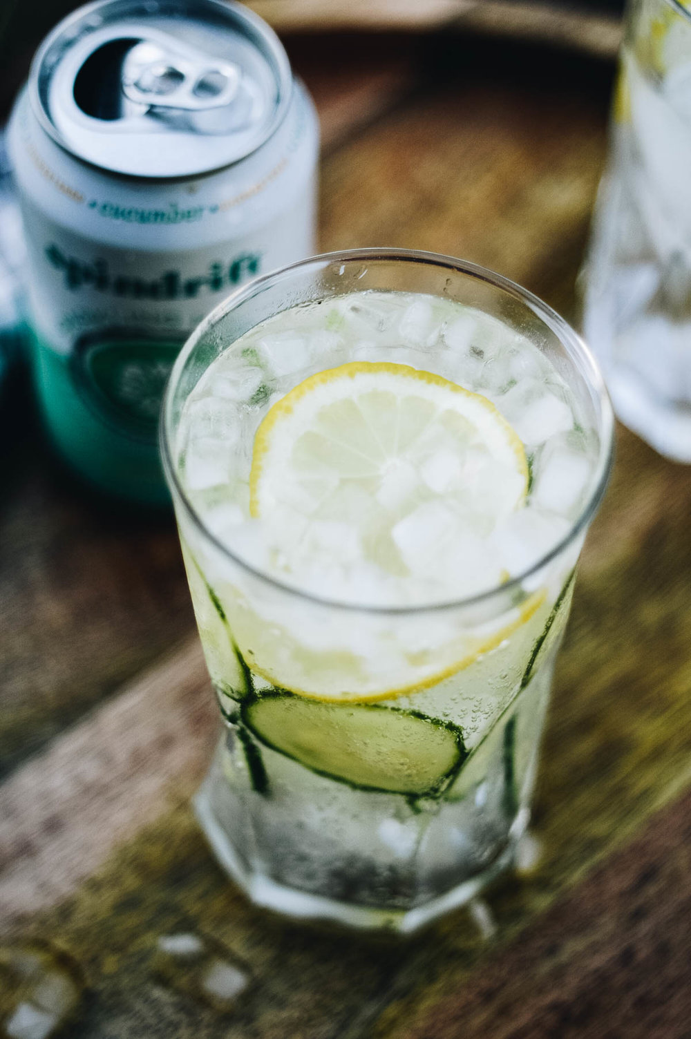 Classic Cucumber Collins with Sprindrift via. www.birdieshoots.com