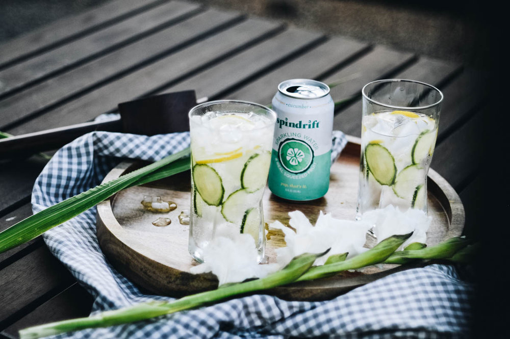 Classic Cucumber Collins with Sprindrift via. www.birdieshoots.com