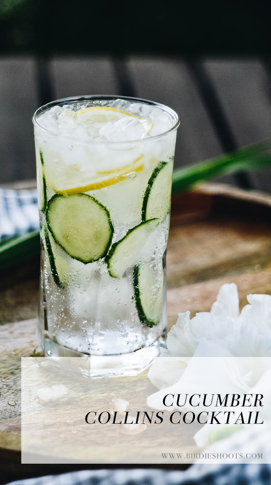 Classic Cucumber Collins with Spindrift via. www.birdieshoots.com