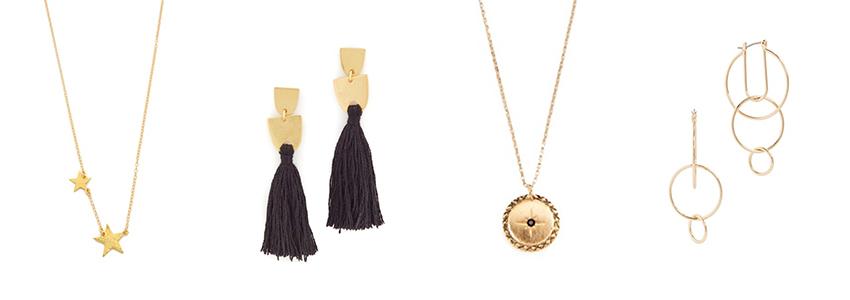 SHOPBOP Fall Sale, Your Shopping Checklist - celestial dainty jewelry  via. www.birdieshoots.com