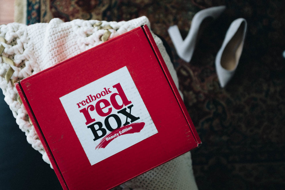 A Look Inside the Redbook RED Beauty Box via. Birdie Shoots