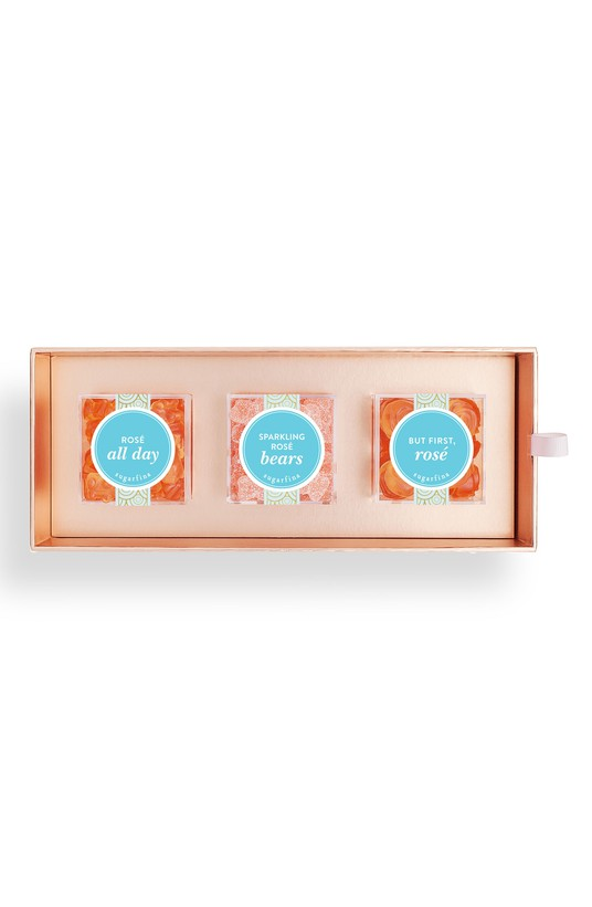 - Rosé 3-Piece Candy Bento Box Celebrate in style with this toast-worthy collection of favorite sugarfina sweets.