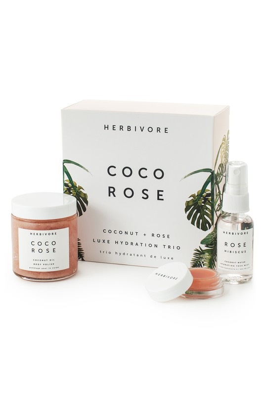 - Coco Rose Luxe Hydration TrioA limited-edition trio of luxurious rose and coconut products to nourish and hydrate skin.