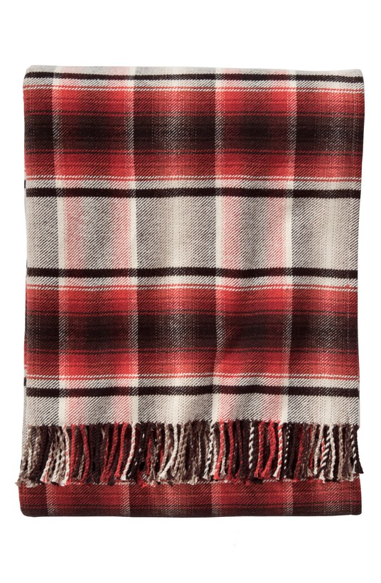 - Board Shirt Plaid Throw    Add a cozy element to any space with a fringe-trimmed throw in classic plaid.
