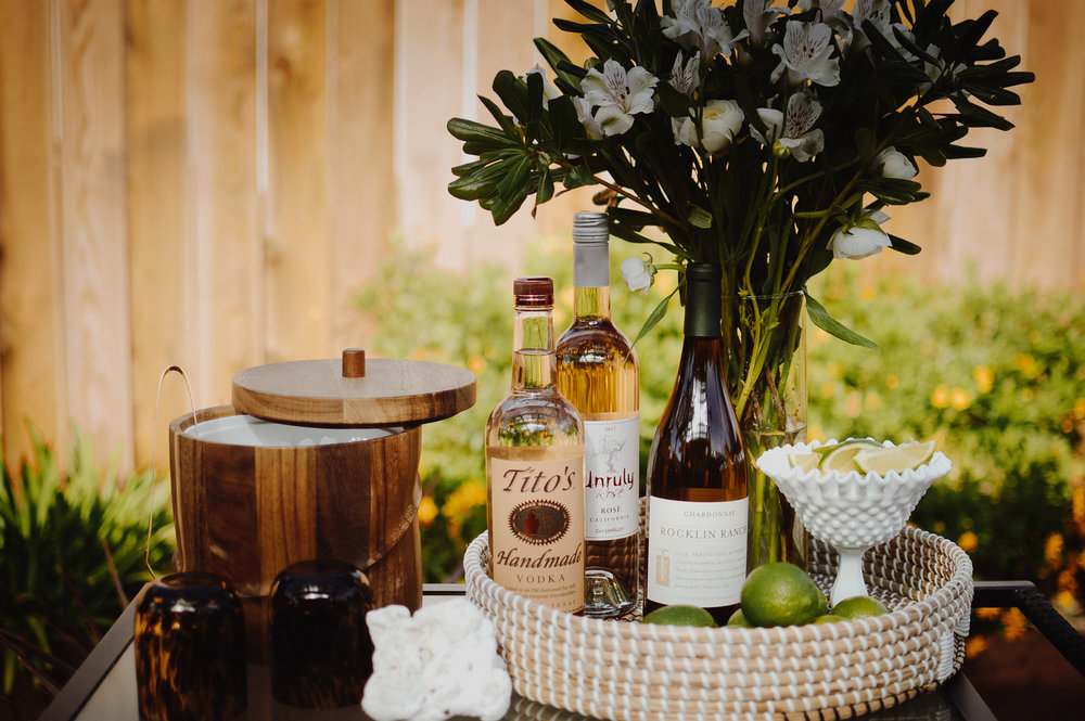 How to Create The Ultimate Outdoor Patio Bar Cart | via. Birdie Shoots
