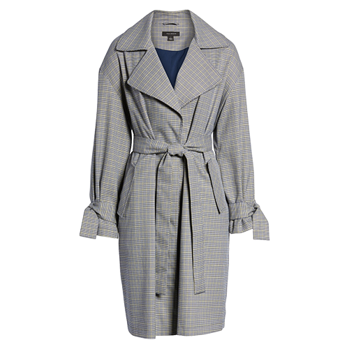 HALOGEN Lightweight Plaid trench Coat.png