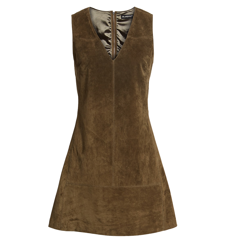BLANKNYC Suede Shift Dress