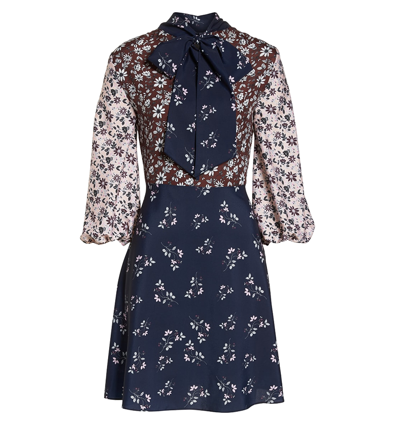 Colorblock Floral Woven Dresss 1901.png