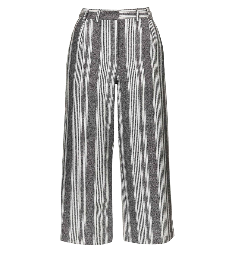 TOPSHOP STRIPE WIDE LEG CROP TROUSERS | NORDSTROM