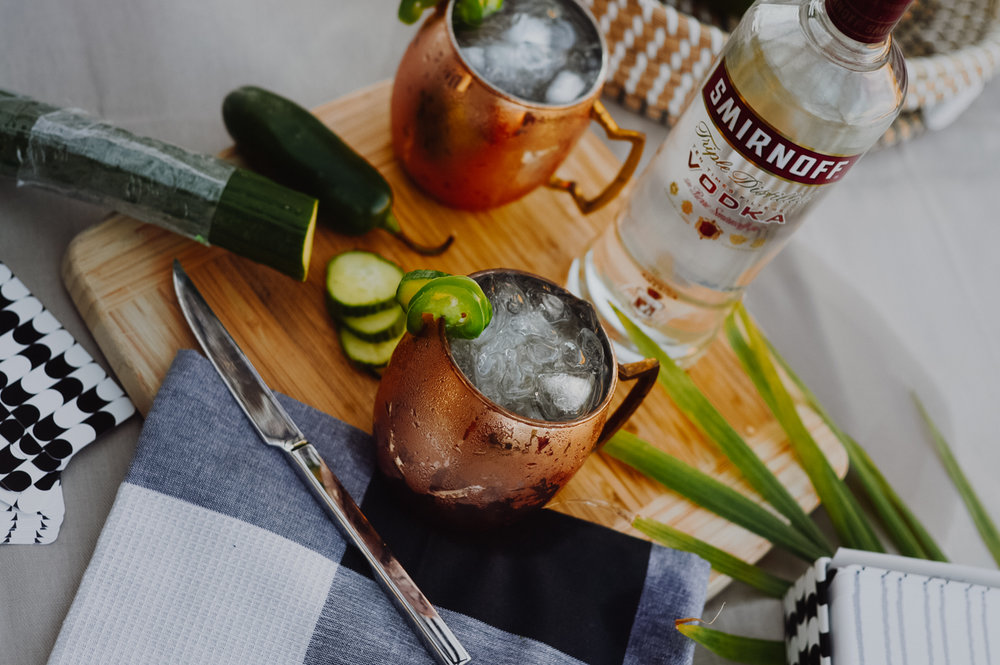 Jalapeño-Cucumber Mule: A new Twist on a Classic Cocktail via. Birdie Shoots | www.birdieshoots.com