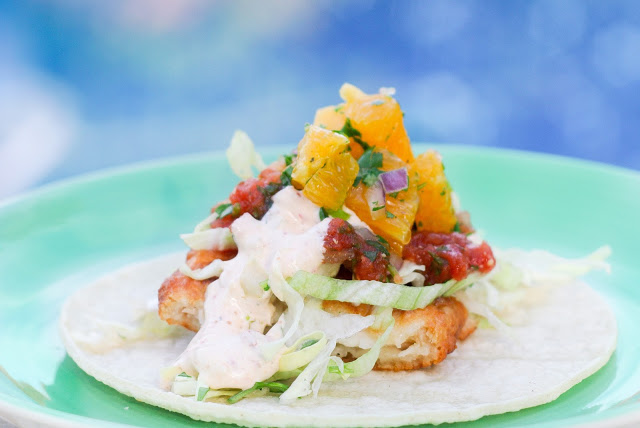 Fish Tacos Recipe via. www.Birdieshoots.com
