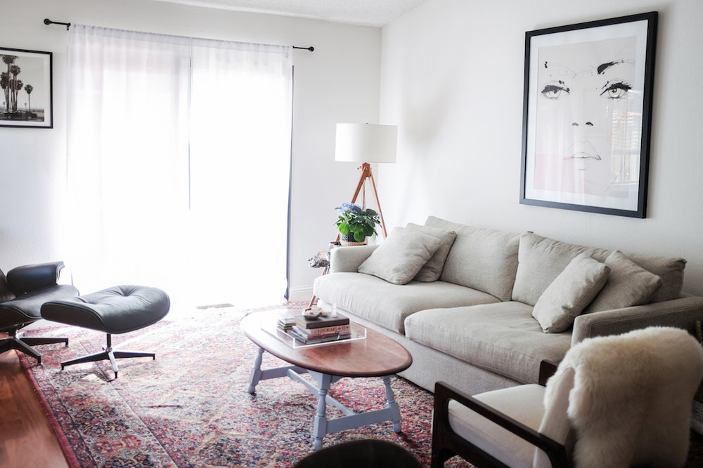 Living Room Redesign Inspiration  via. Birdie Shoots