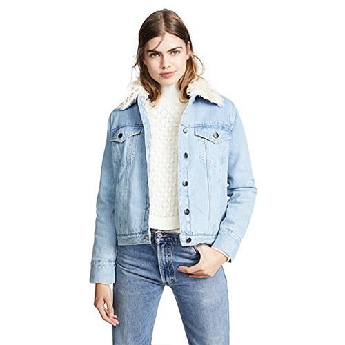 Frame denim shearling jacket