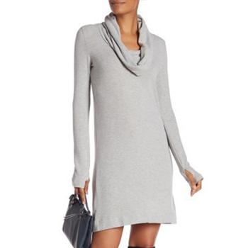 Joan Vass - Velvet Cowl Neck Dress is now 80% off.