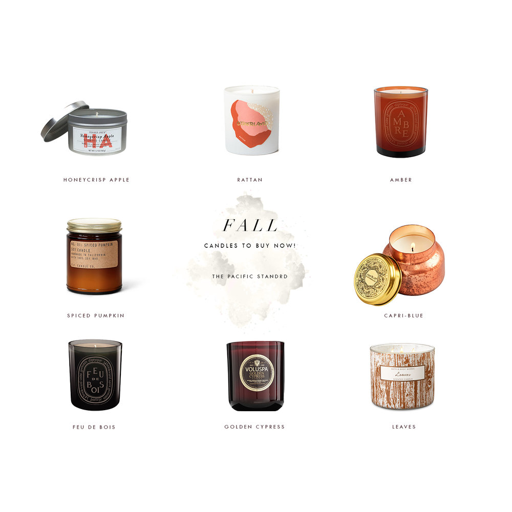 Best Smelling Fall Candles via. The Pacific Standard | www.ThePacificStandard.com