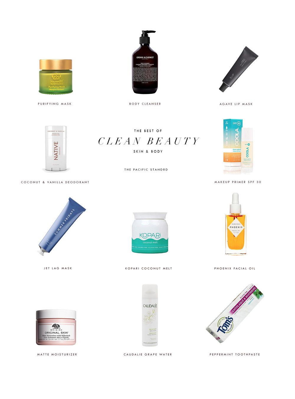 Best of Clean Beauty - Skin & Body Care Products via. The Pacific Standard   www.thepacficstandard.com