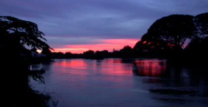 Sunset in Laos.