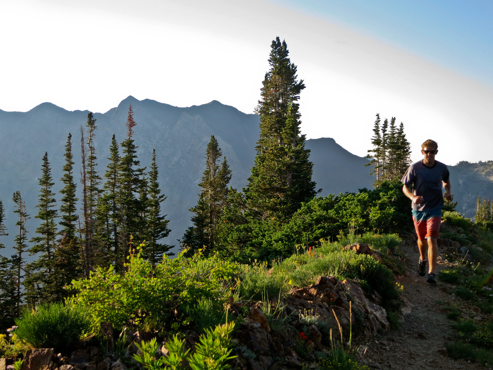 Trying to find something resembling a running cadence on the Ridge Trail. Photo: Chris Cawley