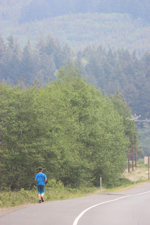 Scott. Running to Pacific City.