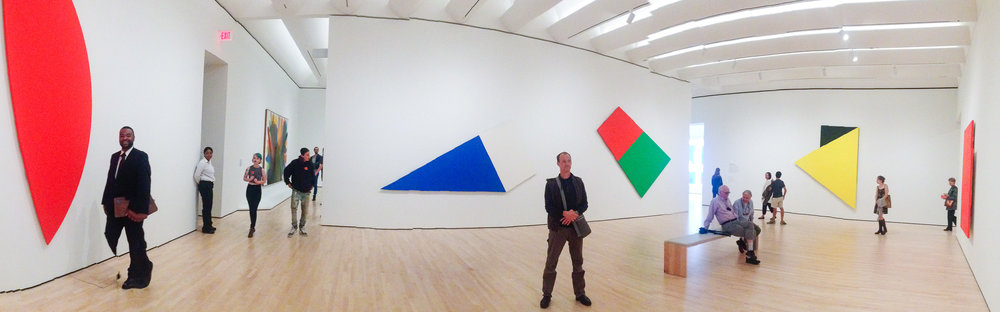 Ellsworth Kelly gallery at SFMoMA