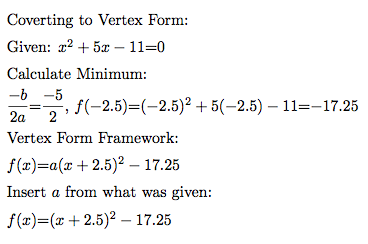 Why is this so hard infinite sums were supposed to like vertex form because as the name says it quickly tells you the vertex calculating the vertex of any quadratic is much simpler than ccuart Choice Image