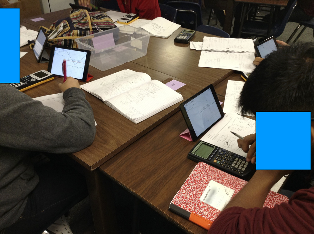 Day 43 - Desmos in use during a test.
