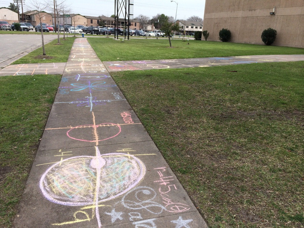 Day 122 - Sidewalk Chalk Day!