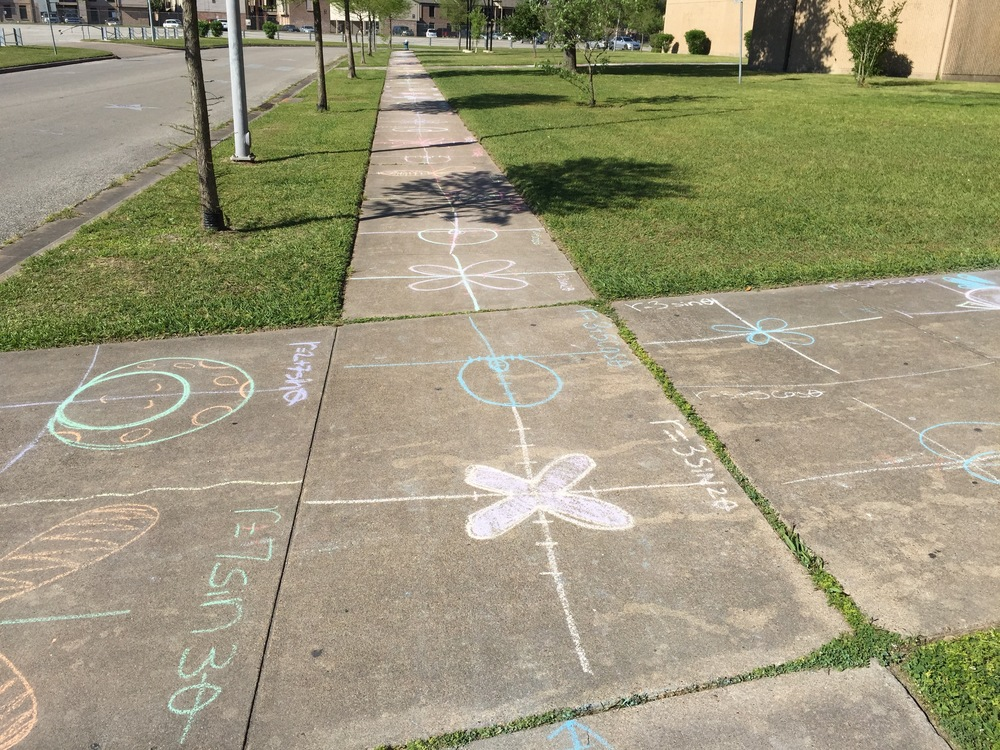 Day 143 - Sidewalk Chalk Day!