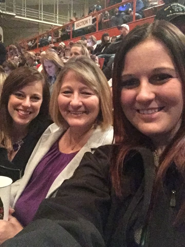 Girls night at the Little Big Town concert with Mom and my sister.