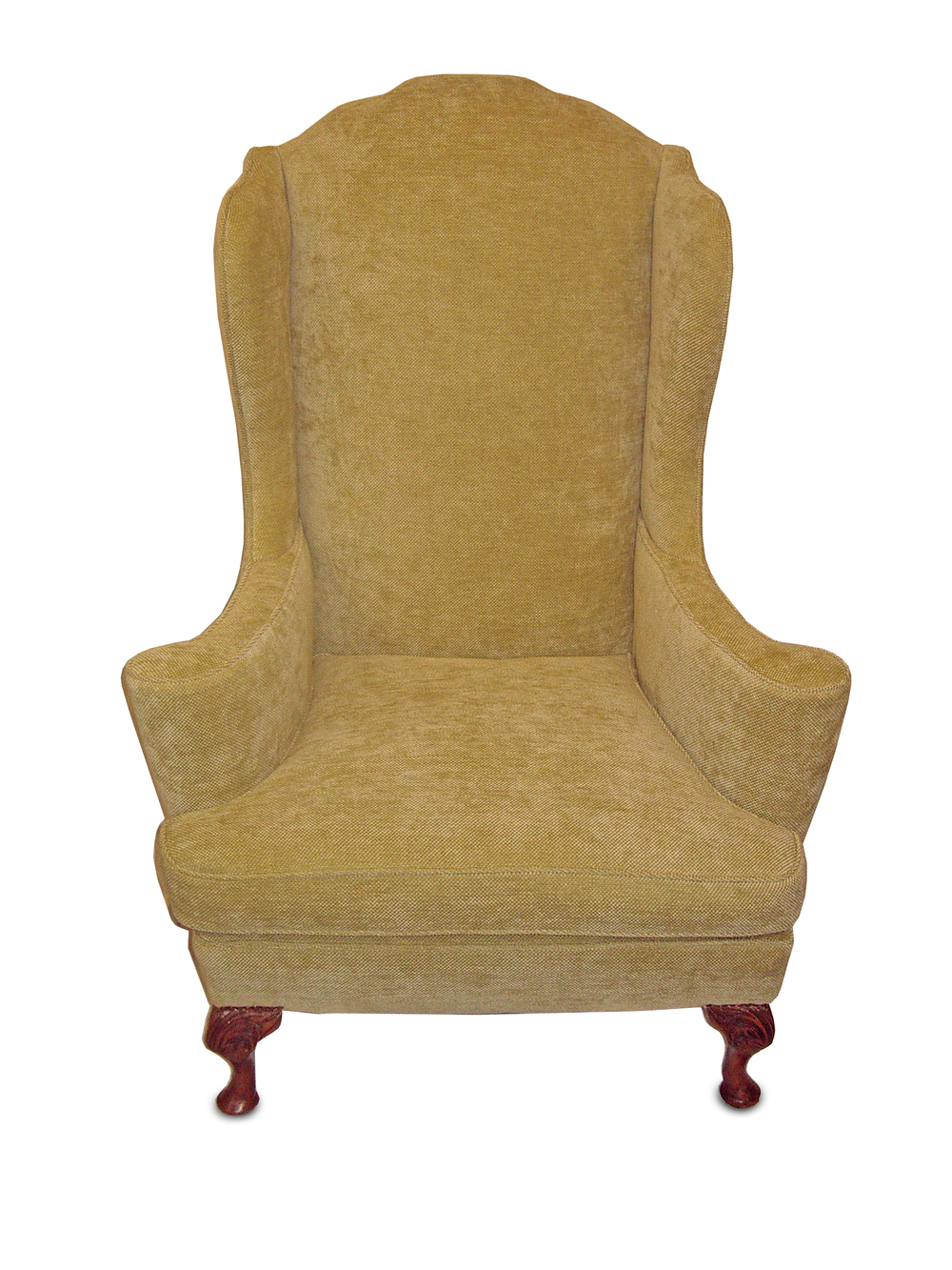 "Georgian wing chair with ""flowerpot"" arms"