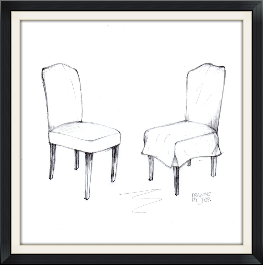 Classic Dining Chair  with loose cover