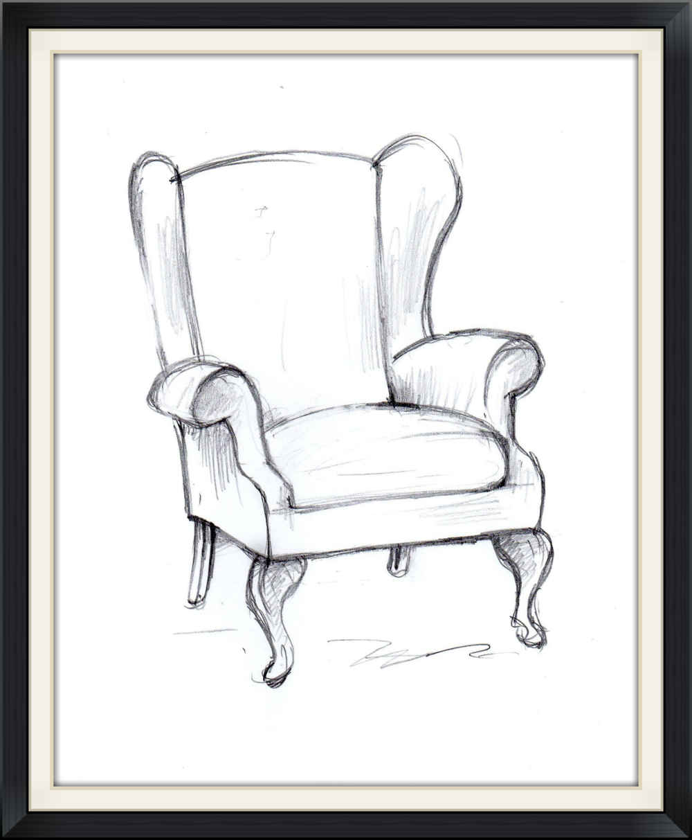 cambriole wing chair