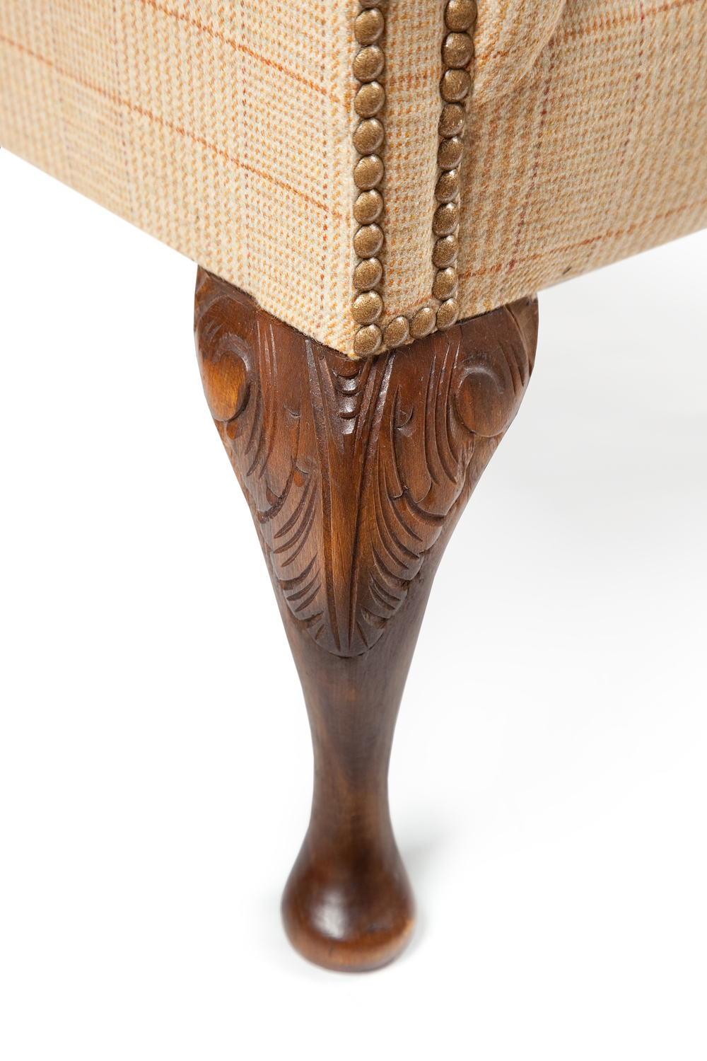 Hand carved acanthus leaf chair leg