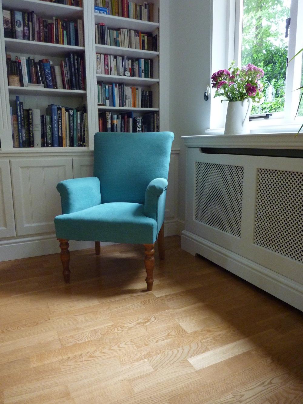 small bespoke armchair