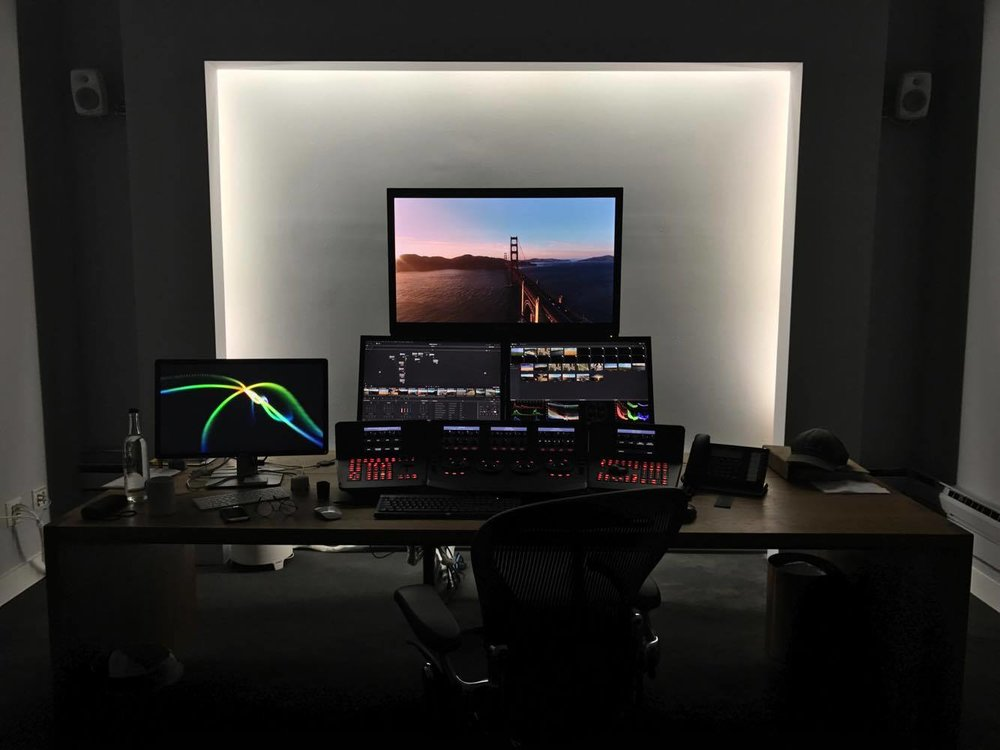 The work station of the colorist, Jacob McKee .