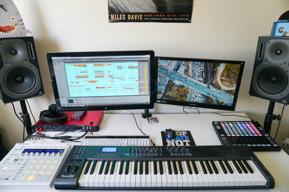 The work station of the Sound Designer, Michael Ponticello
