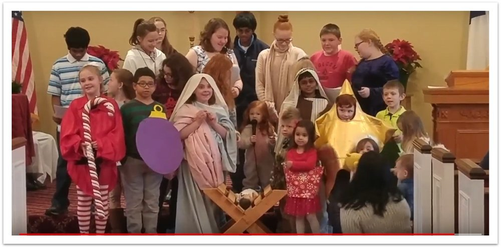 PHOTO ABOVE: Twelve Days of Christmas presented by our Sunday School, December 18, 2017 (See the video under ministries youth) PHOTOS BELOW: OWLS' Christmas Party, December 12, 2017 at the SMILEY's.