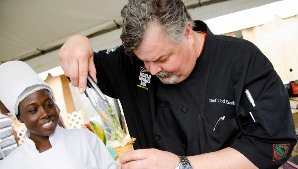 Chef Ted Reader demonstrates a signature recipe