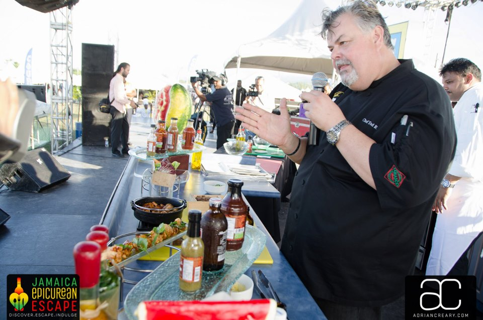 Chef Ted Reader gives some details of his recipe using Lady Marmalade sauces