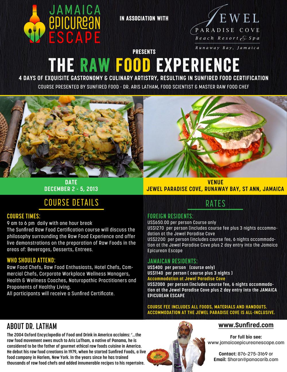 Jamaica Epicurean Escape Raw Food Flyer.jpg