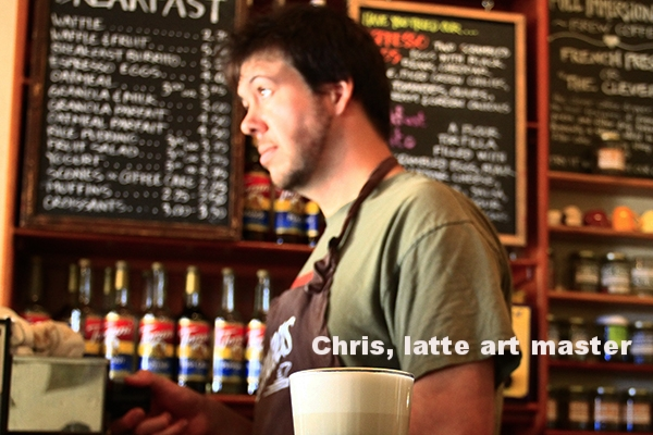 Chris, king of the latte art.