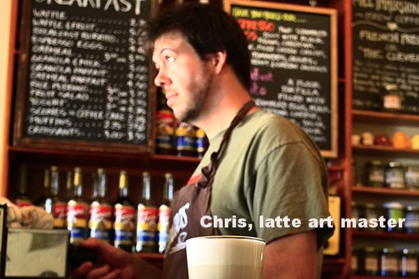 Chris, king of the latte art.